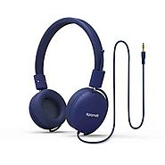 Buy Promate On Ear Headphones for Kids Portable Headset Volume Limited Adjustable Headphones, Soul-Blue | Online in D...