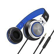 Buy Promate Lightweight on Ear Stereo Headphones Wired Headset with Padded Headband, Spectrum-Blue | Online in Dubai,...