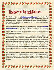 Bookkeeper for tech business