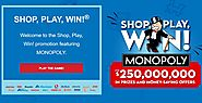 ShopPlayWin.com Monopoly Game 2020 - Enter Code to Win Exciting Prizes