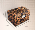 Valentine's Day Gift!!! PU Leather Perfect Design Leopard Three-tier Petal Style Jewelry Box Storage Box Light Weight...