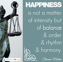 Happiness is a Balance - Elements of Happiness | The New Girlfriendology | Be a Better Friend | Inspiration, Girlfrie...