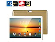 10.1in 3G Android Tablet Quad Core OTG Dual SIM HD IPS Display Gold | Mega Saver Shop