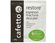 10 x CAFETTO Restore Coffee Express Machine Descaler Equipment Cleaner 25g Sachets