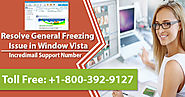 Resolve General Freezing Issue in Window Vista via Incredimail Support Number | Technical Support