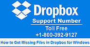 How to Get Missing Files in Dropbox for Windows by Dropbox Support Number?