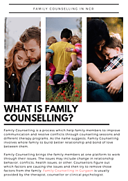 Family Counselling in Delhi, NCR