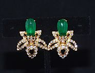 Emerald Earrings Gold – Exotic Gold Jewelry