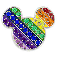 Mickey Mouse Rainbow Icon Pin