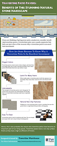 Travertine Patio Pavers: Benefits of This Stunning Natural Stone Hardscape