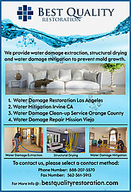 Water Damage Clean-Up Service Orange County