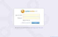 SpiderScribe.net - Login Page