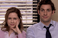 John Krasinski and Jenna Fischer met during the audition.