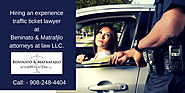 Hiring an Experience Traffic Lawyer in NJ
