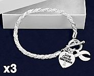 Shop lung cancer awareness bracelets online