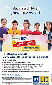 Buy LIC New Children's Money Back Policy, Call/Whatsapp @ 7411199333