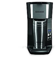 Black & Decker CM625B Programmable Single Serve Coffee Maker with Travel Mug, Black