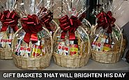 Gift Baskets That Will Brighten His Day
