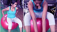 Total Body Exercise Ball Workout Video |Gym Ball Workout Beginner Physioball Workout Routine