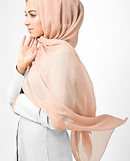 Islamic Comfortable Hijabs, Pinless, PolyChiffon, Viscose & Cotton