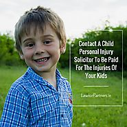 Importance of hiring Child personal injury solicitor!