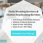 Cloth Washing Services in Gurgaon - Free Pick & Drop