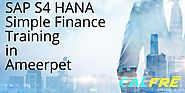 Demo Online for |SAP S/4 HANA Simple Finance Training in Ameerpet| Apply Now