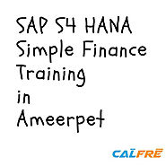 Attend free demo on SAP S4 HANA Simple Finance Training in Ameerpet