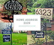 Reflective House Number Address Signs