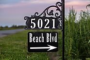 Reflective Address Plaques - House Numbers and Signs for Sale