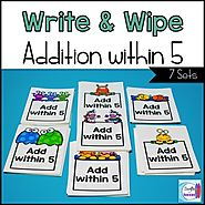 Addition Write and Wipe: Addition within 5 by Mercedes Hutchens | TpT