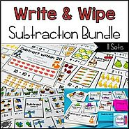 Subtraction Write and Wipe Bundle by Mercedes Hutchens | TpT