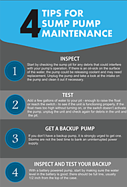 4 Tips for sump pump maintenance