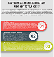 Can you install an underground tank right next to your house?