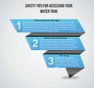 Safety tips for accessing your water tank
