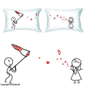"BoldLoft ""Catch My Love"" Couple Pillowcases-Valentines Day Gifts for Him for Her,Valentines Day Gifts for Girlfriend ..."