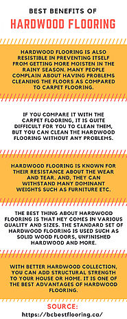 Best benefits of Hardwood Flooring | Visual.ly