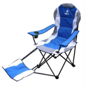 GigaTent Camping Chair with Footrest, Blue