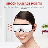 BROMOSE Eye Massager USB Electric Music Therapy Stress Relief Foldable for Eye Care Air Pressure Heat Compression Vib...