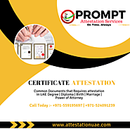Certificate Attestation For Saudi Arabia