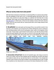 PPT - Why our society needs more solar panels? PowerPoint Presentation - ID:7959053