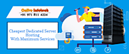 Cheapest Dedicated Server Hosting Services Comes For Business Presence