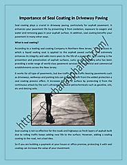 Importance of seal coating in driveway paving