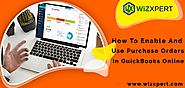 How To Use And Enable Purchase Orders In QuickBooks Online?