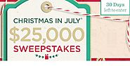 QVC Christmas in July Sweepstakes and Instant Win Game