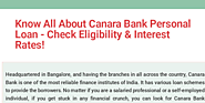 Know All About Canara Bank Personal Loan - Check Eligibility & Interest Rates