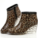 Fun Shoes Leopard Print Womens Rain Boots