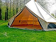360 GSM Glamping Bell Tents | Luxury Cotton Canvas Bell Tents - Bell Tent Village