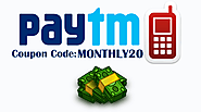 Get Free Paytm Cashback loot on Monthly Coupon Offer 2018