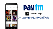 Get Special Paytm Loot Cashback offer on Urbanclap